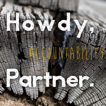 Accountability. It works! http://www.danielledavies.com/home/howdy-partner